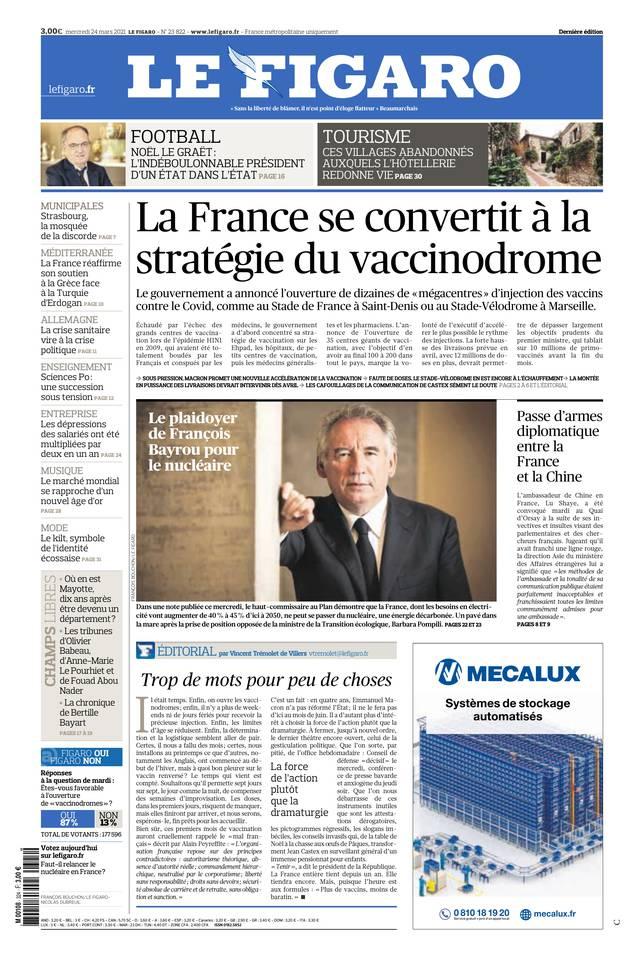 Le Figaro du 24 mars 2021