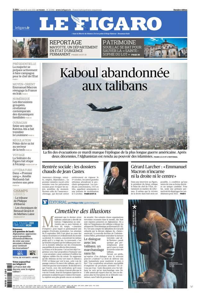 Le Figaro du 31 août 2021