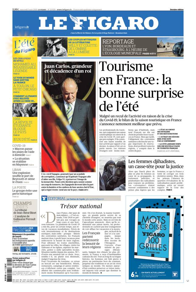 Le Figaro du 05 août 2020