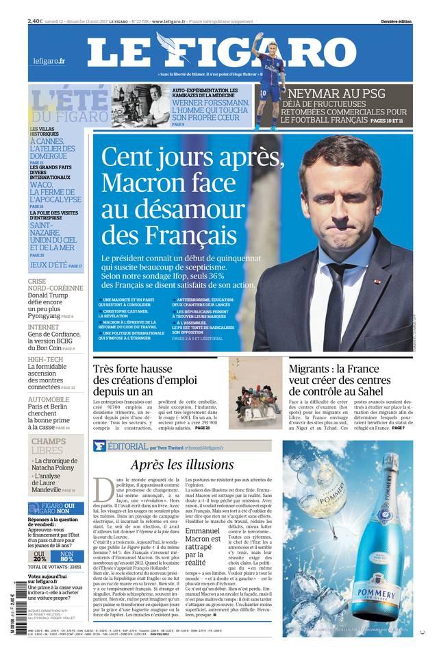 Le Figaro du 12 août 2017