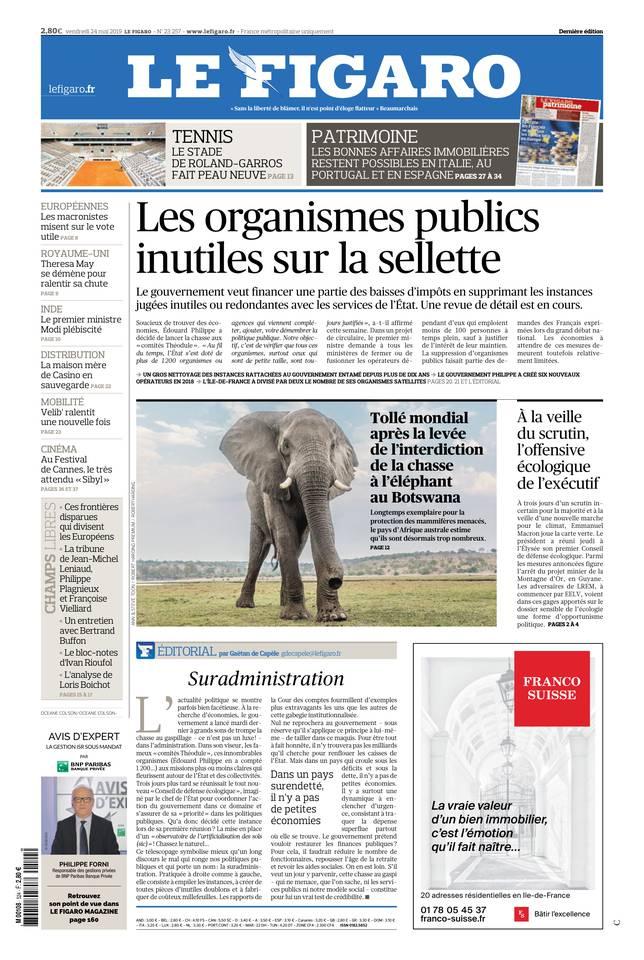 Le Figaro du 24 mai 2019