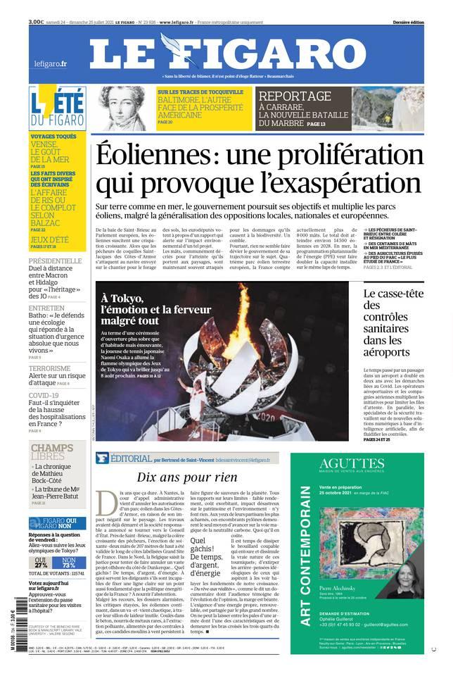 Le Figaro du 24 juillet 2021