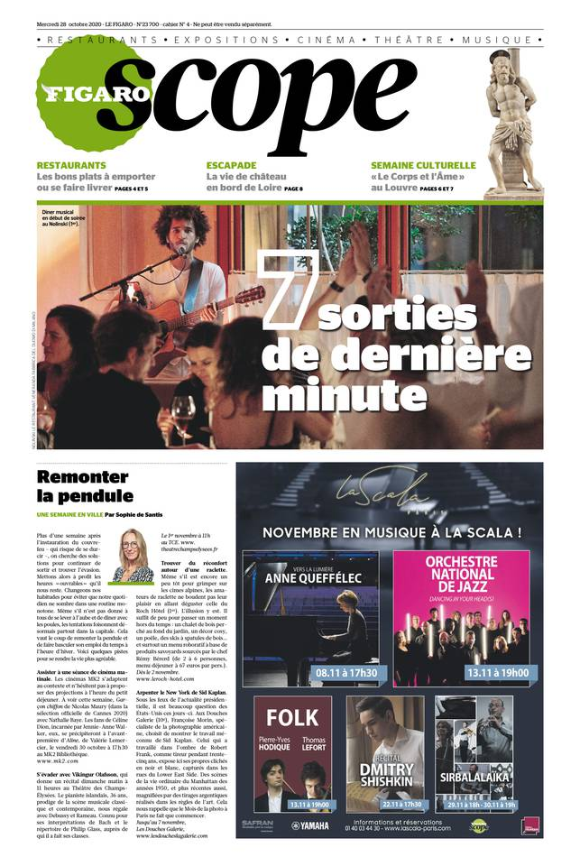 Le Figaroscope du 28 octobre 2020