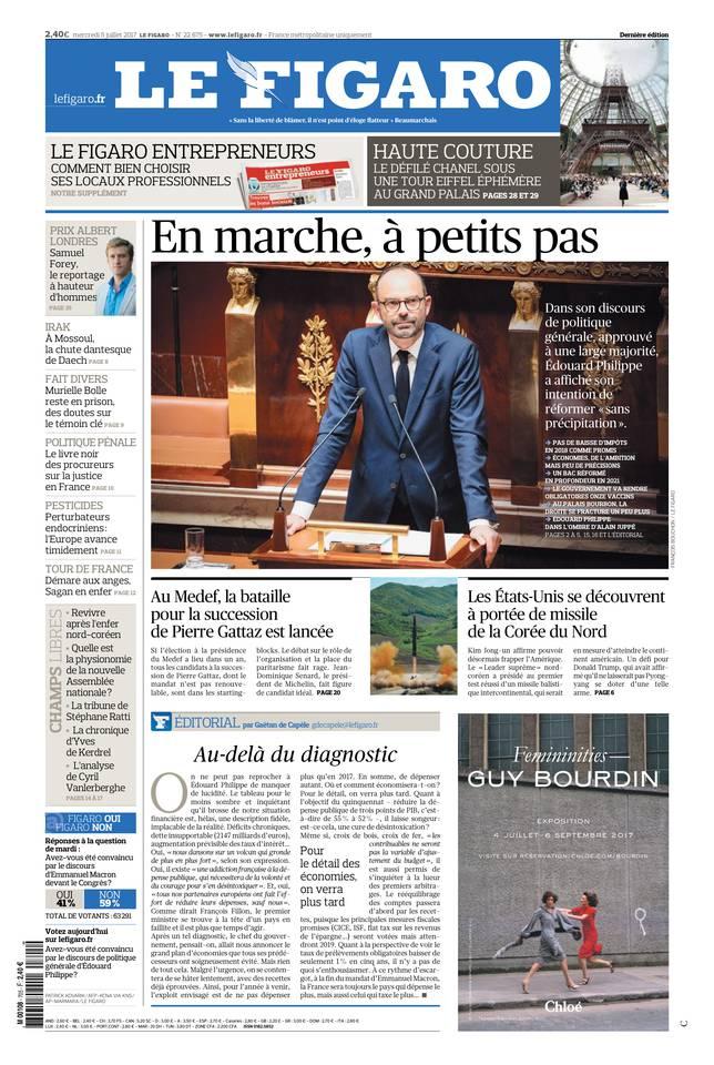 Le Figaro du 05 juillet 2017