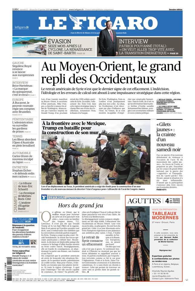 Le Figaro du 12 janvier 2019