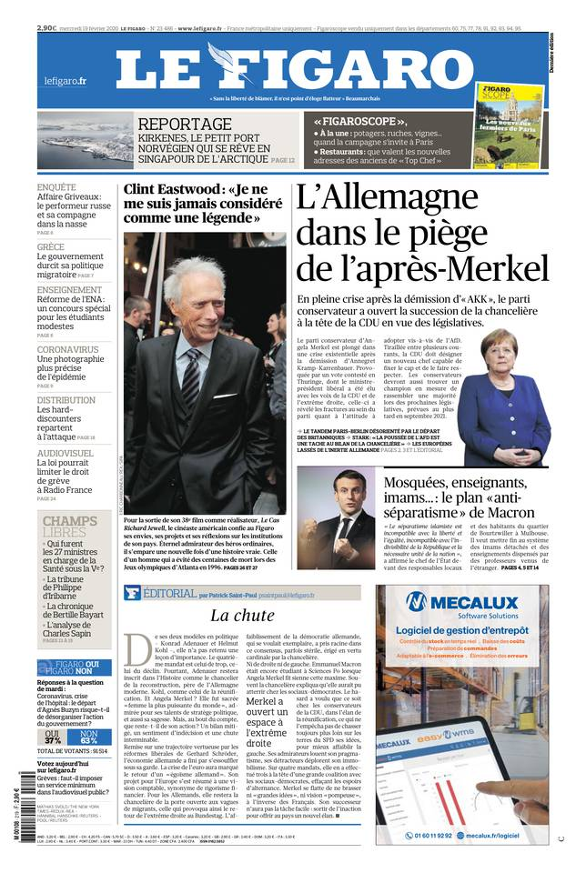 Le Figaro du 19 février 2020