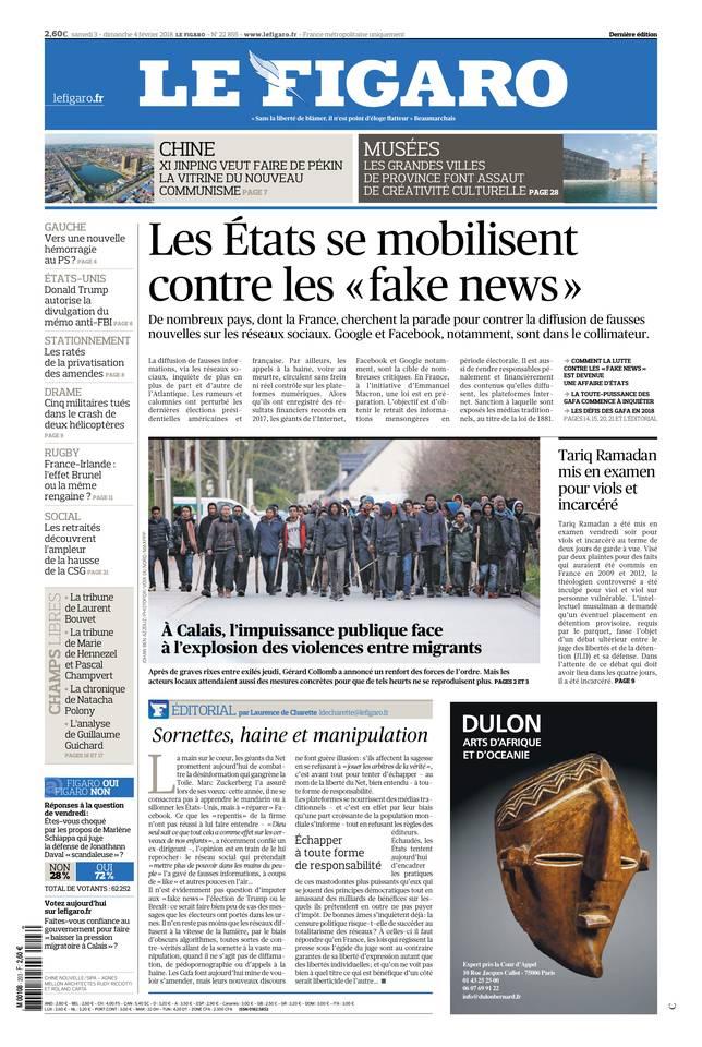 Le Figaro du 03 février 2018