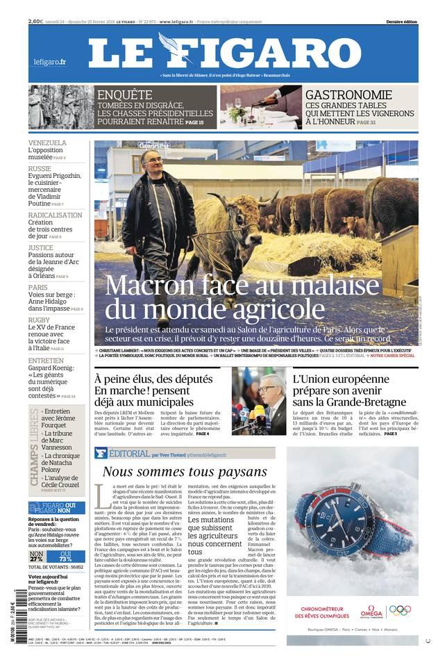 Le Figaro du 24 février 2018
