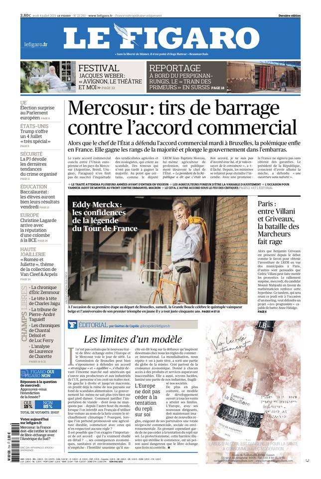 Le Figaro du 04 juillet 2019