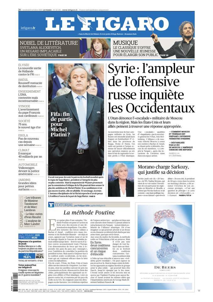 Le Figaro du 09 octobre 2015