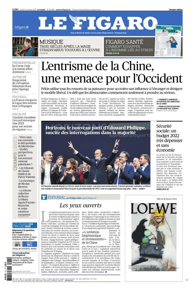 Le Figaro du 11 octobre 2021
