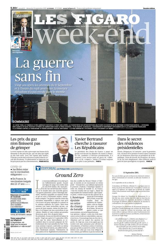 Le Figaro du 11 septembre 2021