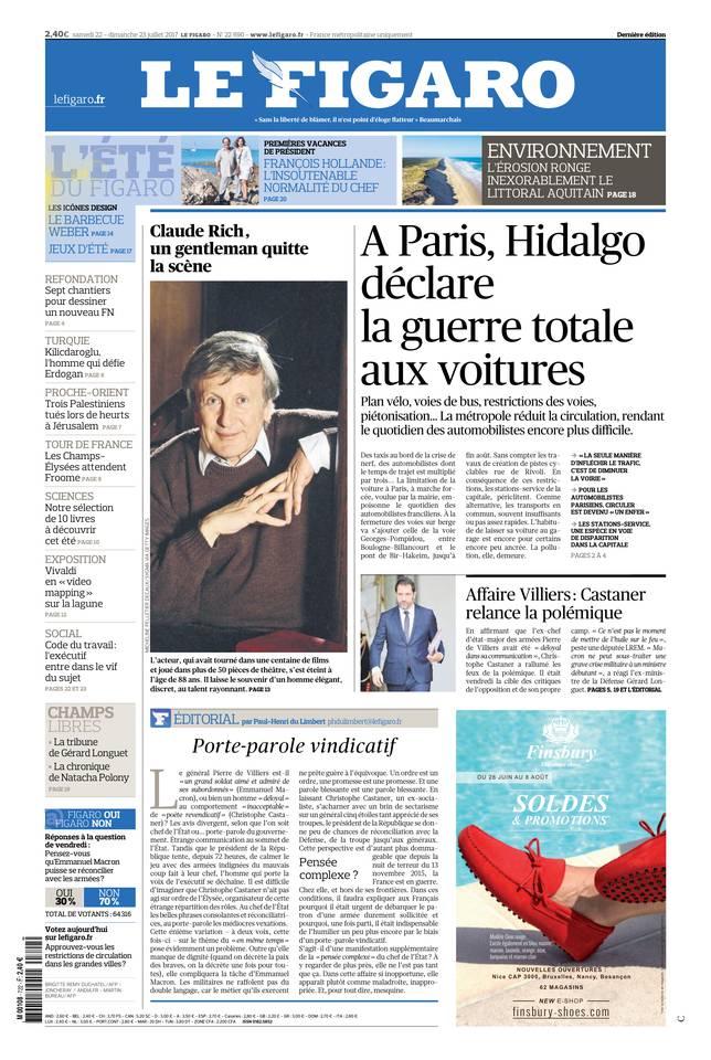 Le Figaro du 22 juillet 2017