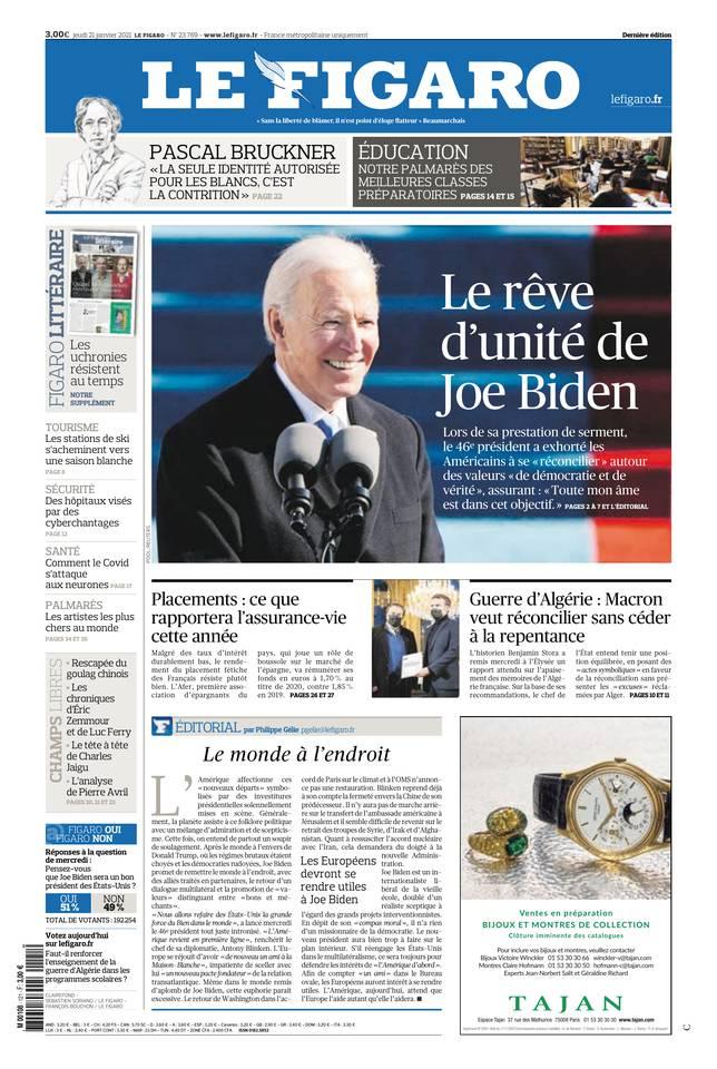 Le Figaro du 21 janvier 2021