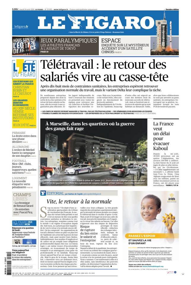 Le Figaro du 24 août 2021