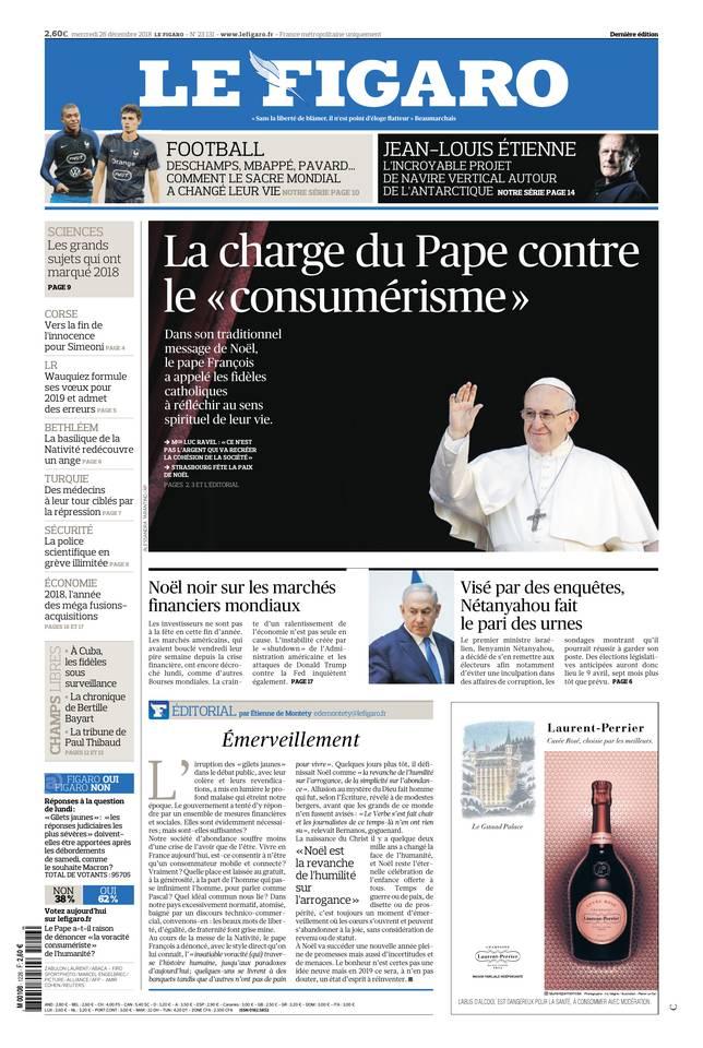 Le Figaro du 26 décembre 2018
