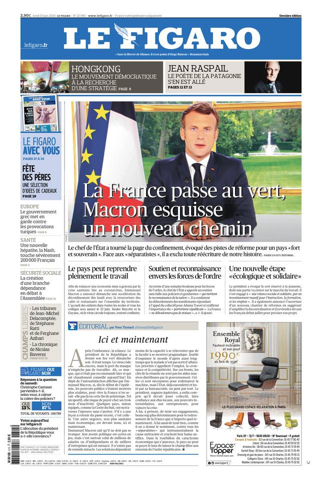 Le Figaro du 15 juin 2020