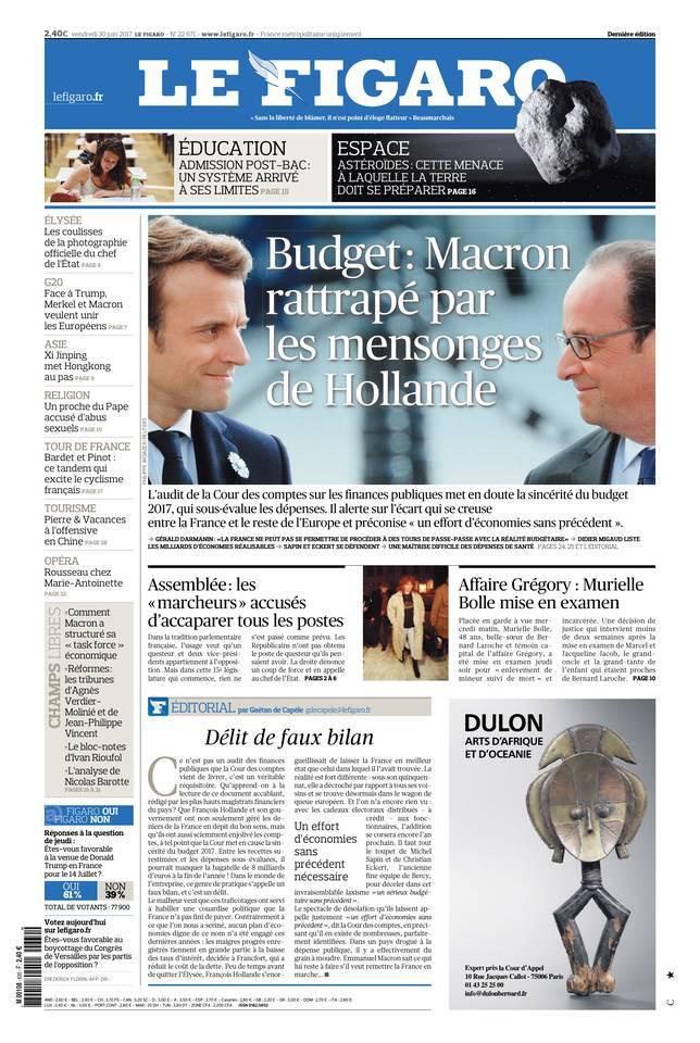 Le Figaro du 30 juin 2017