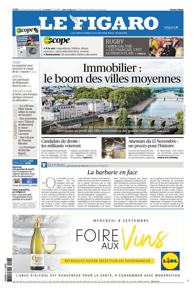 Le Figaro du 08 septembre 2021