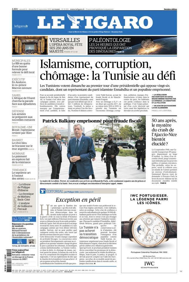 Le Figaro du 14 septembre 2019