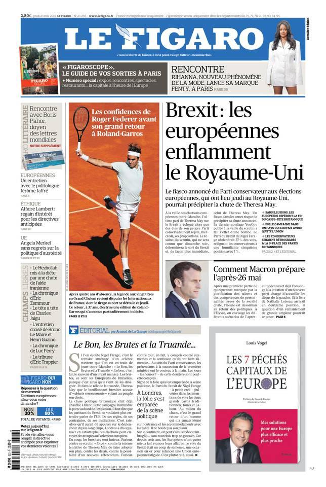 Le Figaro du 23 mai 2019