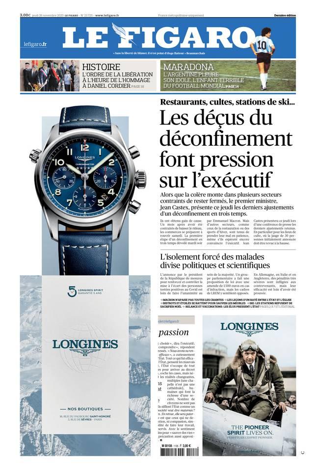 Le Figaro du 26 novembre 2020