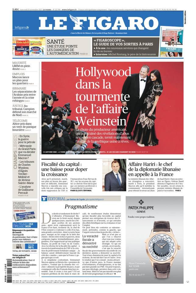Le Figaro du 15 novembre 2017
