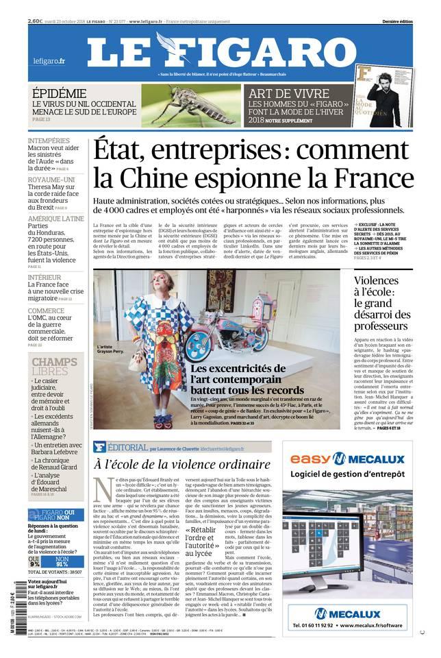 Le Figaro du 23 octobre 2018