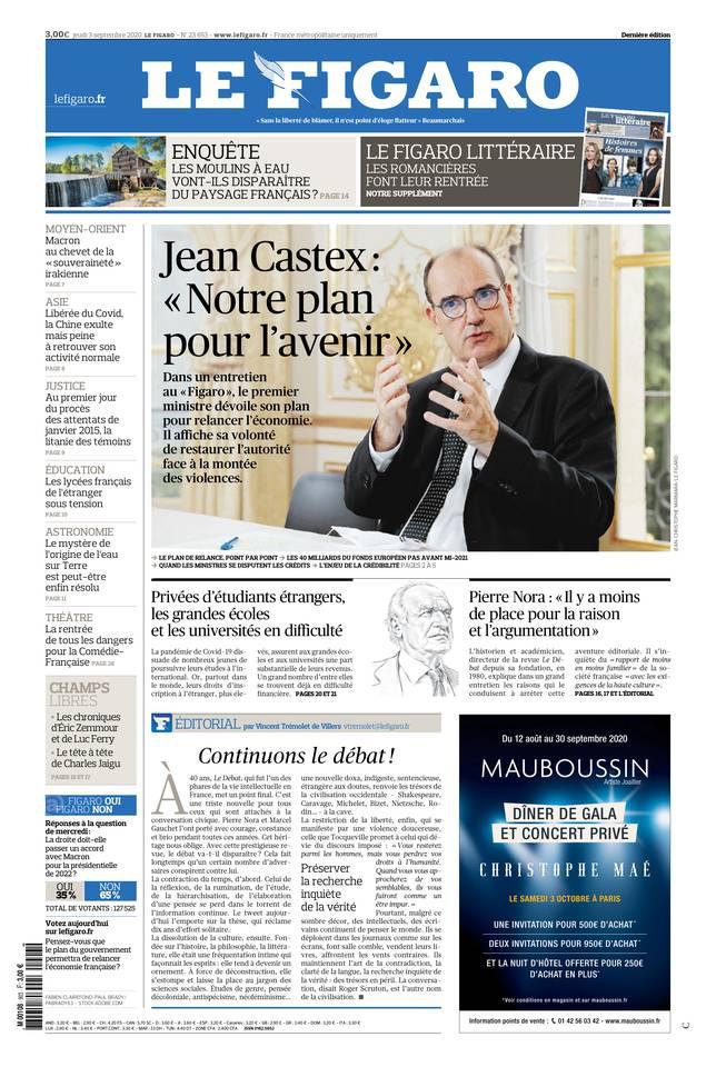 Le Figaro du 03 septembre 2020