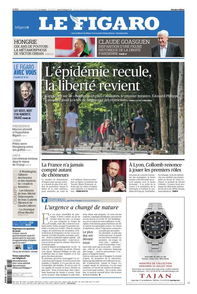 Le Figaro du 29 mai 2020