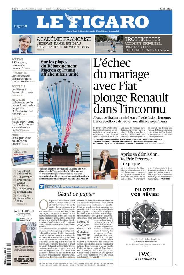 Le Figaro du 07 juin 2019