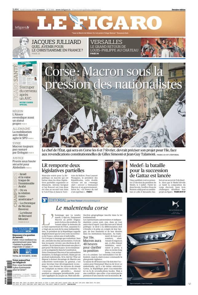 Le Figaro du 05 février 2018
