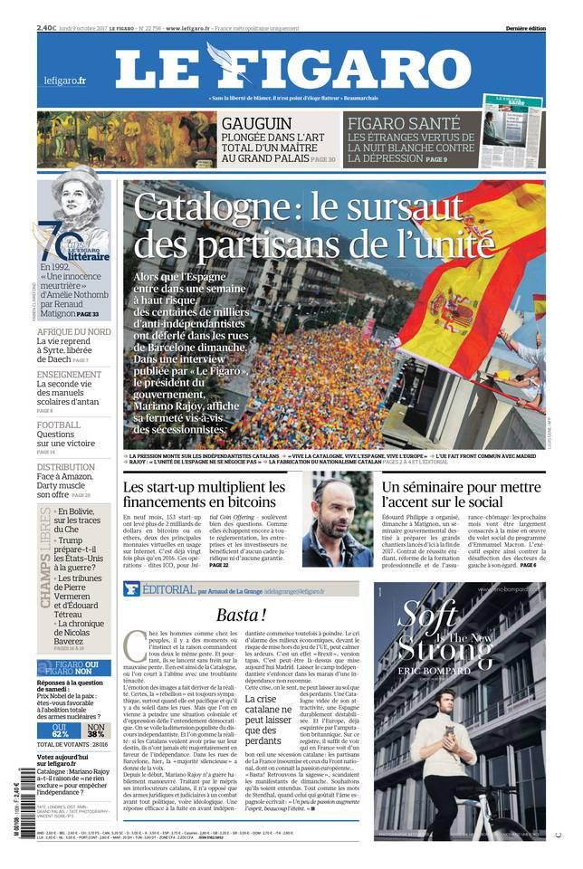 Le Figaro du 09 octobre 2017