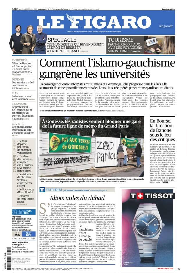 Le Figaro du 12 février 2021