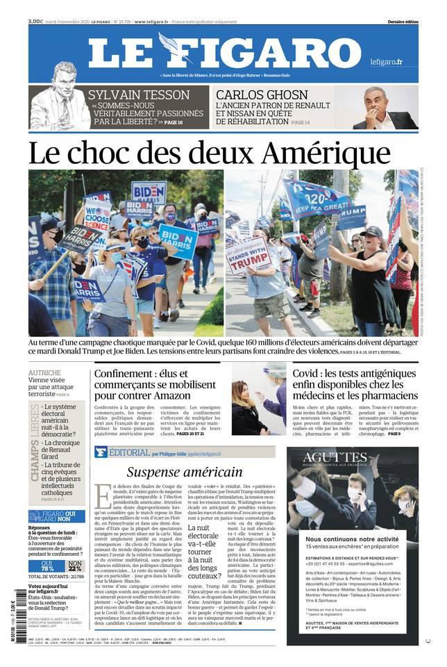Le Figaro du 03 novembre 2020