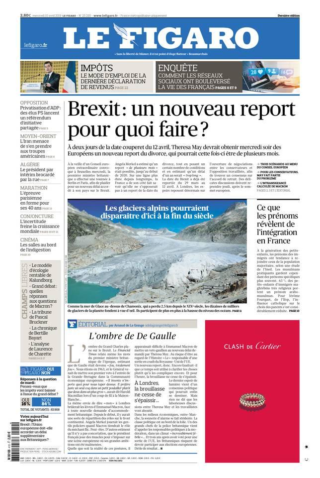 Le Figaro du 10 avril 2019