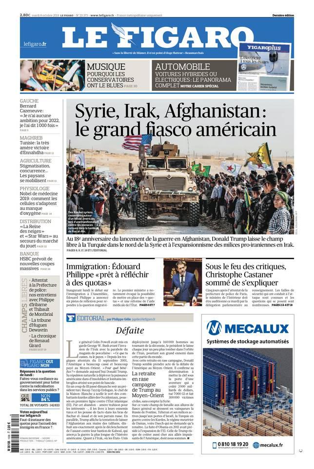 Le Figaro du 08 octobre 2019