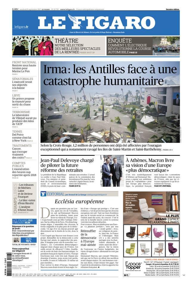 Le Figaro du 08 septembre 2017