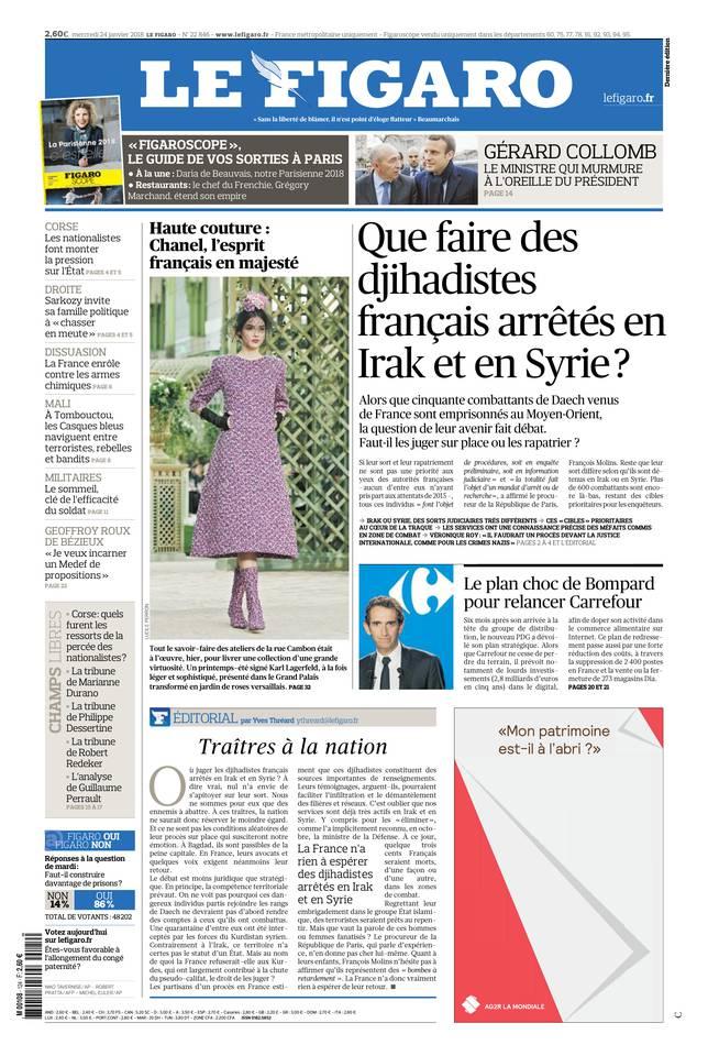 Le Figaro du 24 janvier 2018