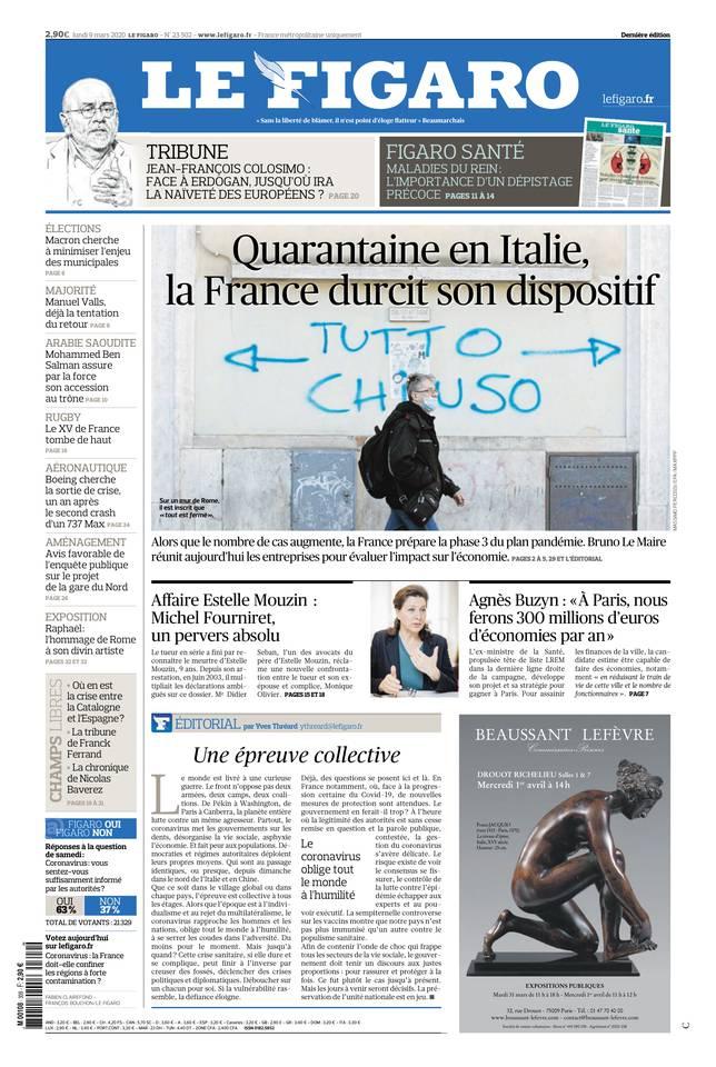 Le Figaro du 09 mars 2020