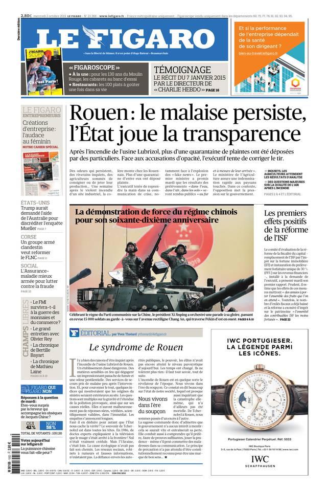 Le Figaro du 02 octobre 2019