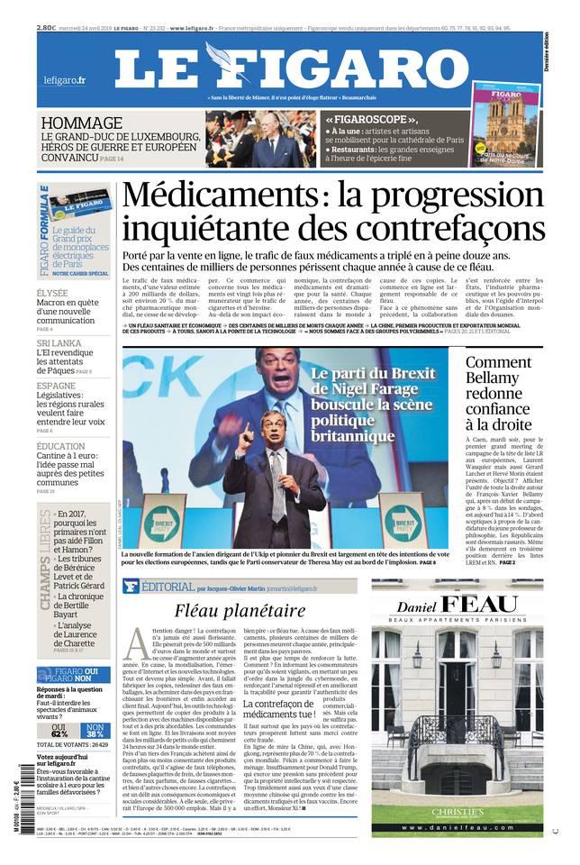 Le Figaro du 24 avril 2019