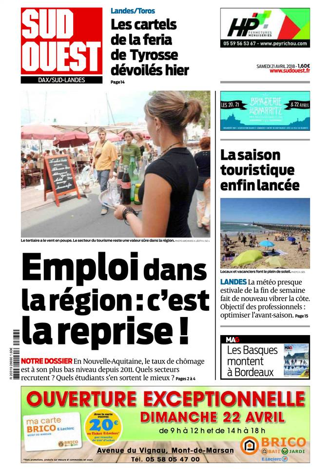 21 avril 2018 sud ouest sfr presse - Editions sud ouest cuisine ...