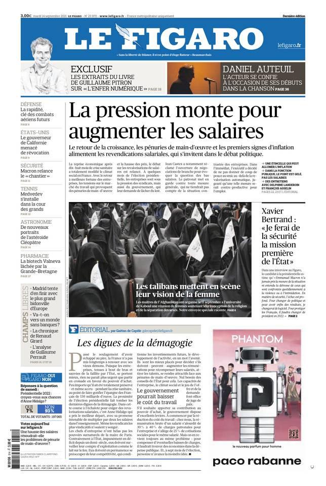 Le Figaro du 14 septembre 2021