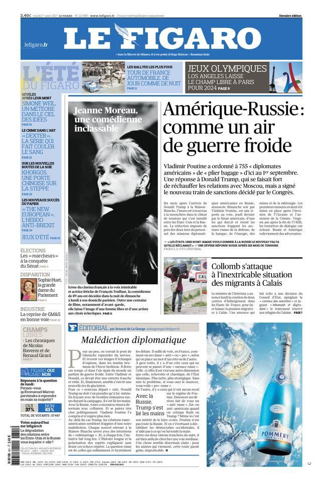Le Figaro du 01 août 2017