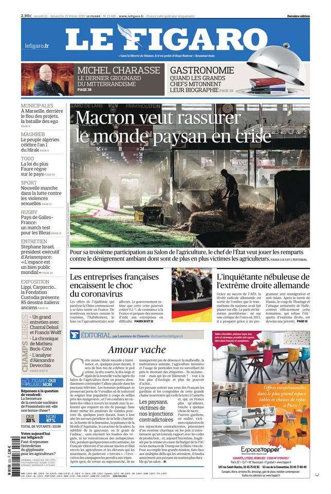 Le Figaro du 22 février 2020