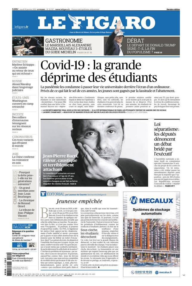 Le Figaro du 19 janvier 2021