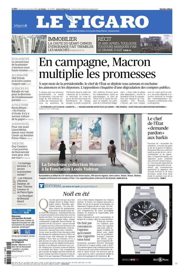 Le Figaro du 21 septembre 2021