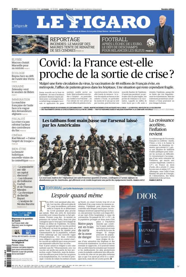 Le Figaro du 01 septembre 2021