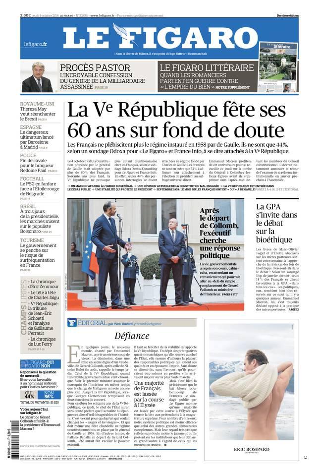 Le Figaro du 04 octobre 2018